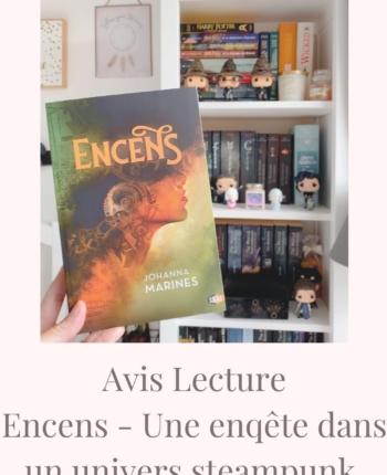 Encens Johanna Marine une souris et des livres avis lecture